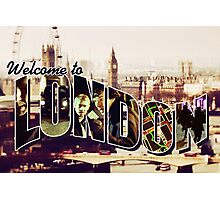 Welcome To London - Sherlock Version #2 Photographic Print