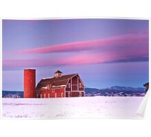 Sunrise on Daniel's Barn, Denver Colorado Poster