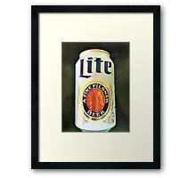 Miller Lite Framed Print