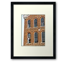 Window Measuring Framed Print