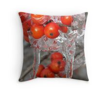Cluster of Red Throw Pillow
