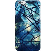 "Dr. Who Gallifreyan ""Dream Improbable Dreams"", with Tardis, blue universe, white border iPhone Case/Skin"