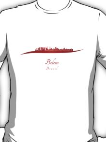 Belem skyline in red T-Shirt