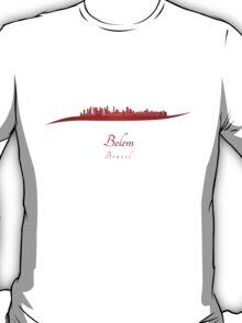 Belem skyline in red T-Shirt