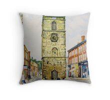 Morpeth Clock Tower Throw Pillow