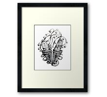 Slippers and Flowers Framed Print