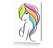 Beautiful woman Greeting Card
