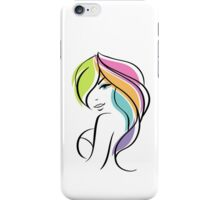 Beautiful woman iPhone Case/Skin
