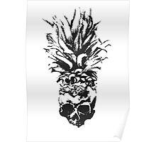 Skull Pineapple Grunge Case Poster