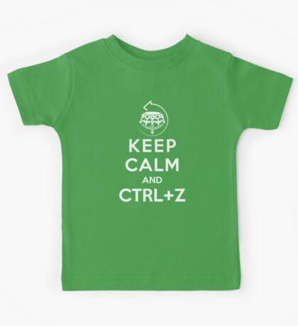 Keep calm and ctrl+z Kids Tee