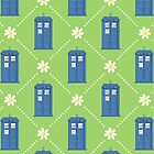 TARDIS and Daisies pattern by sirwatson