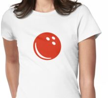 Red bowling ball Womens Fitted T-Shirt