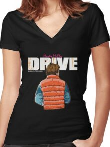 Drive 88 MPH Women's Fitted V-Neck T-Shirt