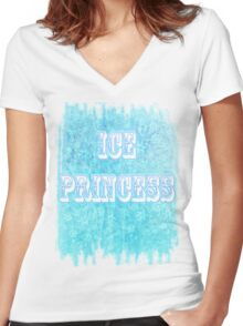 ICE PRINCESS Women's Fitted V-Neck T-Shirt
