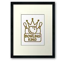 Bowling king crown Framed Print