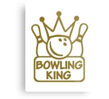 Bowling king crown Metal Print