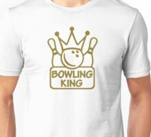 Bowling king crown Unisex T-Shirt