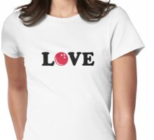 Bowling love ball Womens Fitted T-Shirt