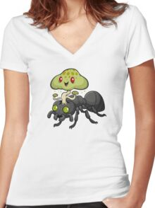 Cordyceps Ant Women's Fitted V-Neck T-Shirt