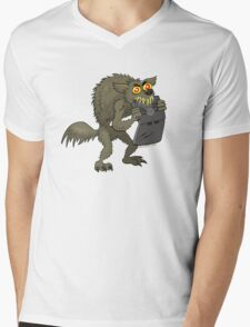 A Werewolf Chewing on a Laptop Mens V-Neck T-Shirt