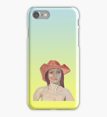 Red hat girl in yellow iPhone Case/Skin