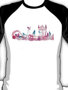 Disney World Hollywood Studios Watercolor Skyline T-Shirt