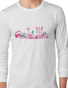 Orlando Movie Theme Park Inspired Skyline Silhouette Long Sleeve T-Shirt