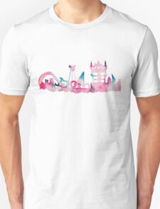 Orlando Movie Theme Park Inspired Skyline Silhouette T-Shirt