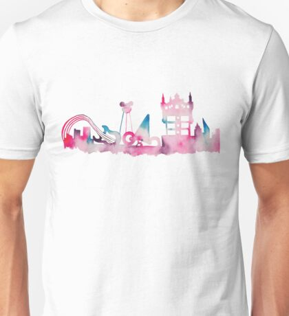 Orlando Movie Theme Park Inspired Skyline Silhouette Unisex T-Shirt