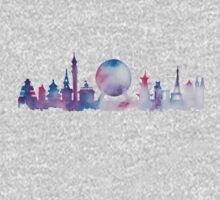 Disney Epcot Skyline Watercolour Kids Clothes