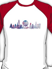Disney Epcot Skyline Watercolour T-Shirt