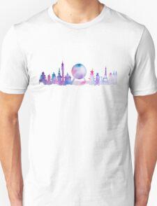 Orlando Future Theme Park Inspired Skyline Silhouette Unisex T-Shirt