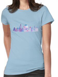 Orlando Future Theme Park Inspired Skyline Silhouette Womens Fitted T-Shirt