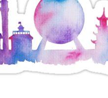 Orlando Future Theme Park Inspired Skyline Silhouette Sticker