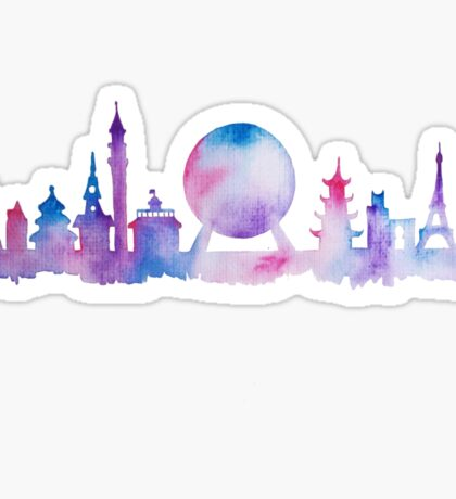 Orlando Future Theme Park Inspired Skyline Silhouette Sticker