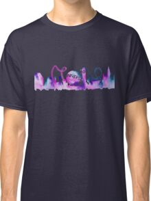 Orlando Theme Park Inspired Watercolor Skyline Silhouette Classic T-Shirt