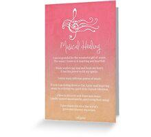 Affirmation - Musical Healing Greeting Card