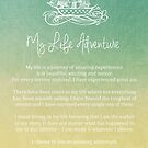 Affirmation - My Life Adventure by CarlyMarie