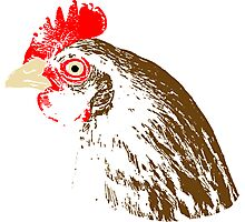 Chicken stamp Photographic Print