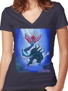 Part Fish Women's Fitted V-Neck T-Shirt