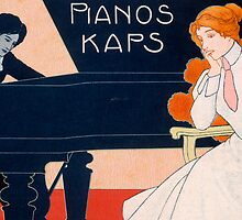 Advertisement for Kaps Pianos by Bridgeman Art Library