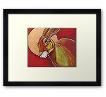 Tell the Moon (March Hare) Framed Print