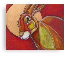 Tell the Moon (March Hare) Canvas Print