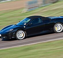 Black Ferrari soft top  by Martyn Franklin
