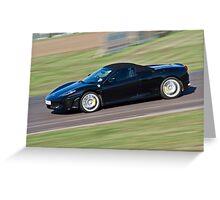 Black Ferrari soft top  Greeting Card