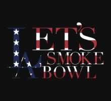 LA Lets Smoke A Bowl | American Flag by FreshThreadShop