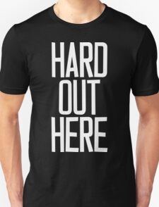 Hard Out Here [For A PIMP] White Ink Unisex T-Shirt