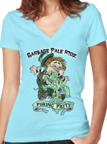 "Garbage Pale Kidz ""Puking Patty"" Women's Fitted V-Neck T-Shirt"