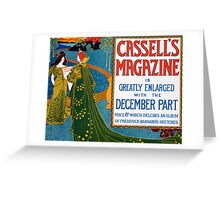 Advertisement for Cassell's Magazine Greeting Card