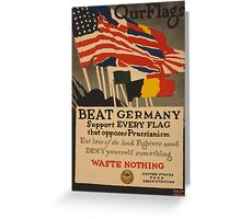 Beat Germany Greeting Card